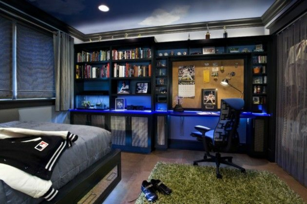 Jugendzimmer junge einrichten  Jugendzimmer einrichten - kreative Interior Entscheidungen und Tipps