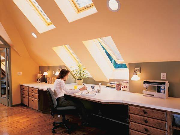 jugendzimmer mit dachschräge schreibtisch