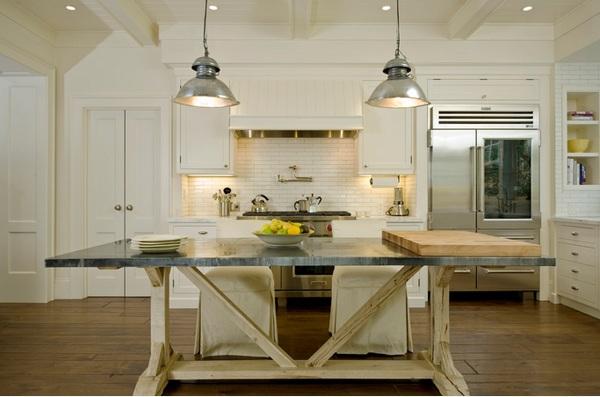 küche einrichten minimalistisch skaninavisch landhaus residenz rustikal esstisch