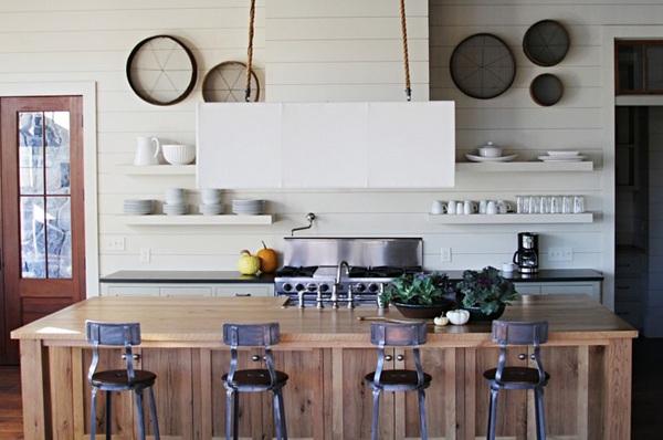 küche einrichten minimalistischer skaninavischer stil lake house