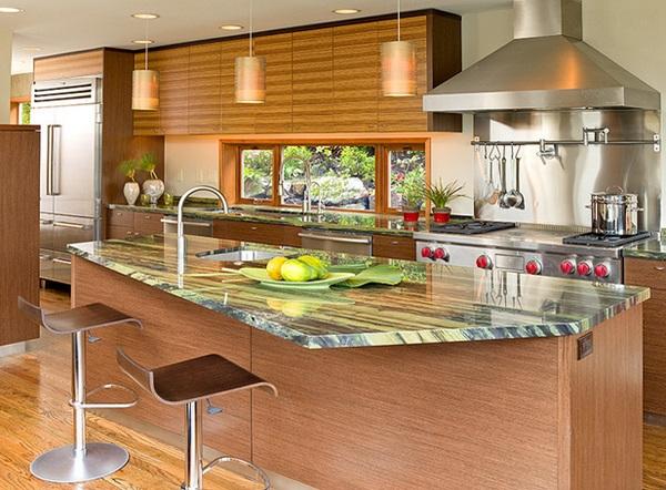 küche gestalten im asiatischen stil holzküche kücheninsel arbeitsplatte