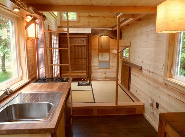 küche gestalten im asiatischen stil teehaus holzküche essbereich