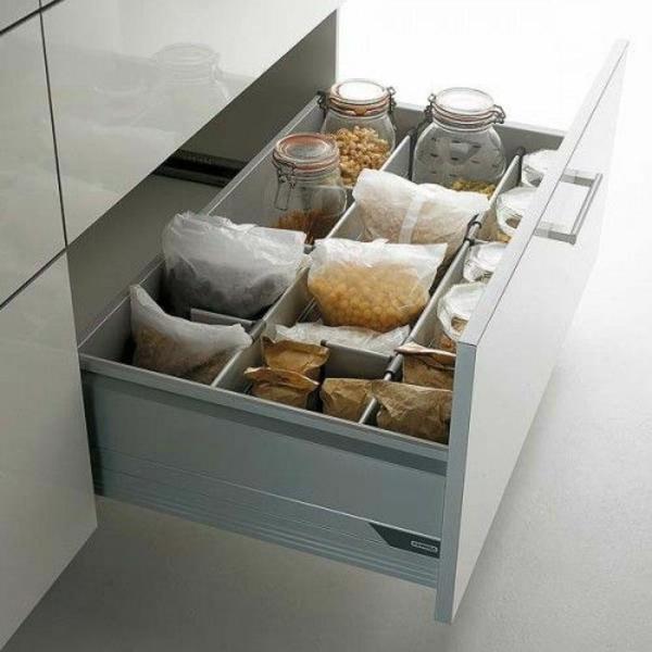 schubladeneinteilung küche praktische einrichtung kern