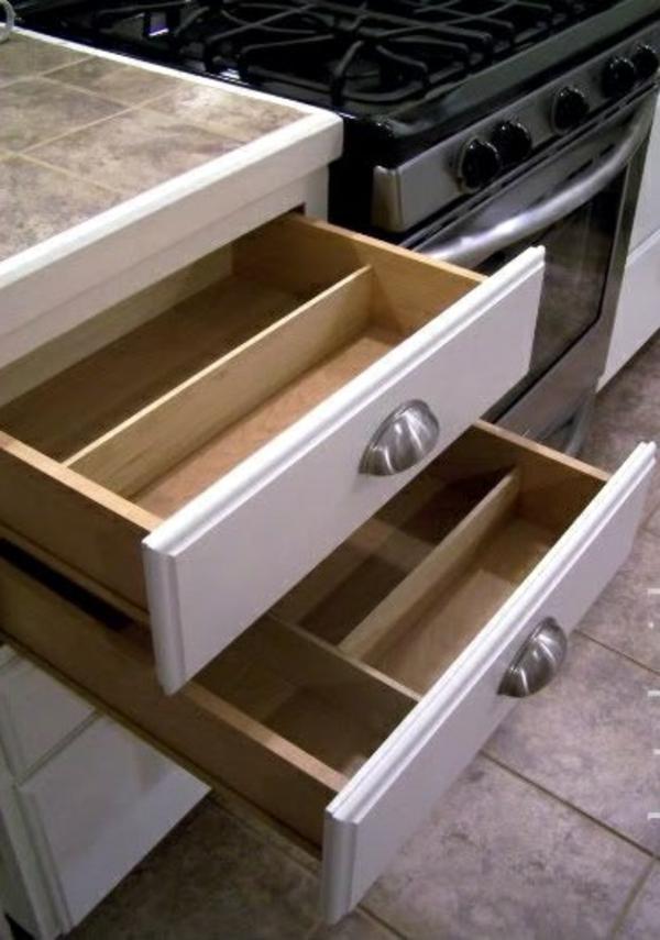 küche schubladeneinteilung einrichtung ofen
