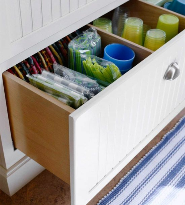 küche schubladeneinteilung praktische einrichtung