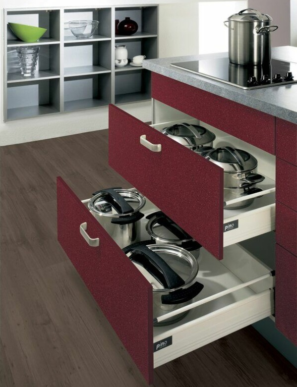schubladeneinteilung küche praktische einrichtung