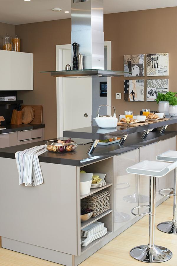 küche wandfarbe mocca macchiato schöner wohnen farben