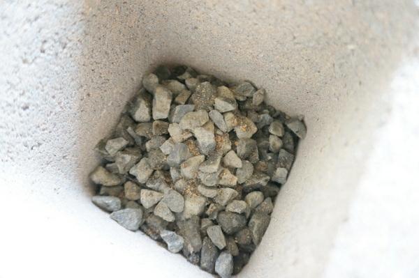 kies am boden betonstein