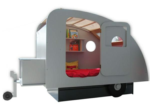 kinderzimmer bett ideen wohnwagen regal