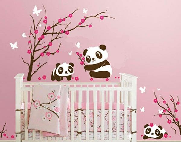 babyzimmer wandgestaltung - 15 wanddeko ideen mit tieren - Kinderzimmer Ideen Rosa