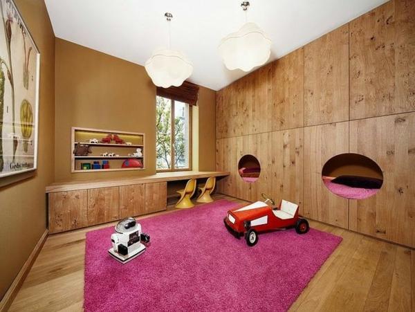 kinderzimmer ideen für einrichtung rosa teppich