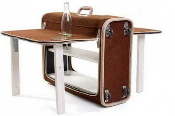 klapptisch wandmontage holztisch klappbar koffer
