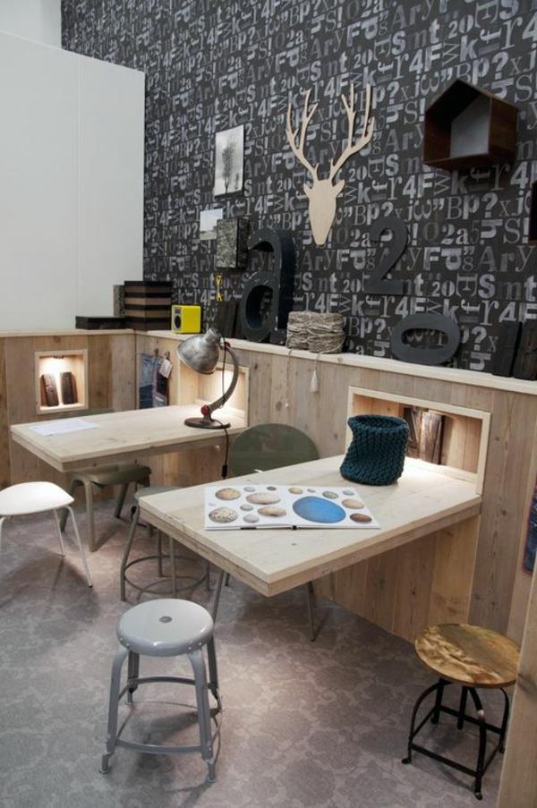 wandklapptische klappbare holztische f r kleine r ume. Black Bedroom Furniture Sets. Home Design Ideas