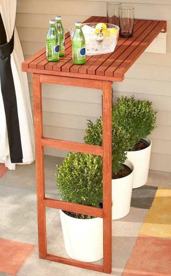 klapptisch wandmontage holztisch klappbar zimmerpflanzen