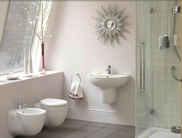 Bidet Para Baños Pequenos:Kleines Bad einrichten – aktuelle Badezimmer Ideen