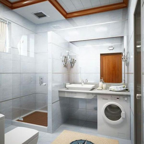 Bad Einrichten Badideen Waschmaschine Kleines ...