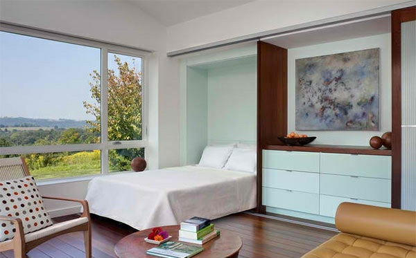 Bett Quietscht Holz Was Tun ~ kleines schlafzimmer einrichten klappbett holz bodenbelag farbideeen