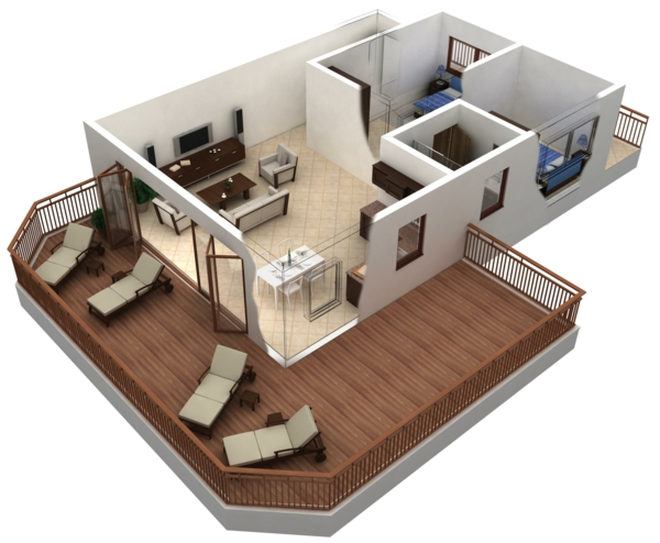 Raumplaner Kostenlose 3 Raumplaner on Small Studio Apartment Floor Plans 3d