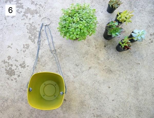 kraetive gartenideenzum selber machen pflanzgefäße aufhängen diy projekt