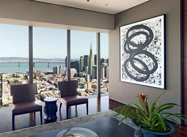 kreative wandgestaltung abstrakte kunst wandgestaltung wohnzimmer