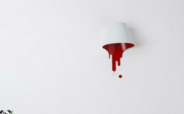 lampen pur design klassiker wand weiß rot