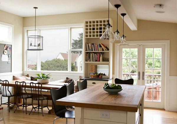 landhaus einrichtung ideen küche esszimmer