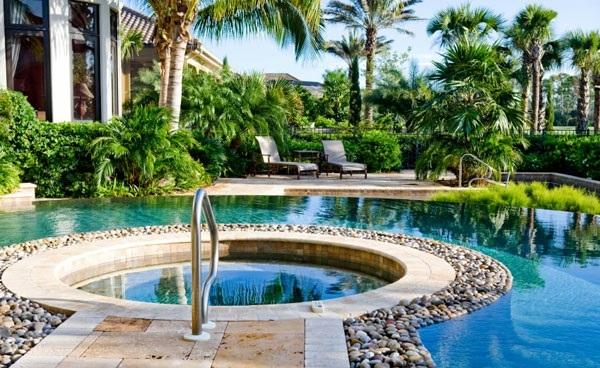 Swimmingpool im Garten - Landschaftsideen für Schwimmbäder