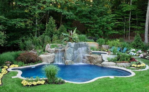 swimmingpool im garten landschaftsideen f r schwimmb der