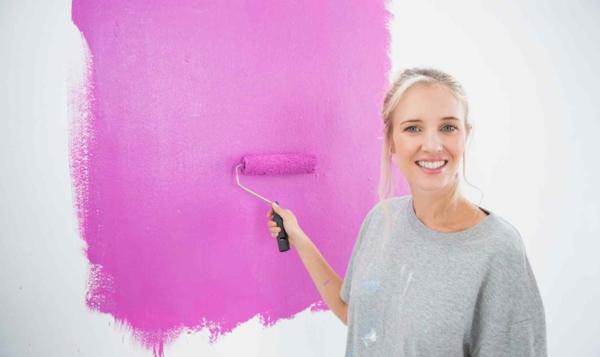 lila pinke wandfarbe wände streichen trendfarben 2014