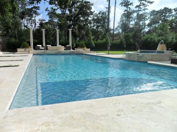 landschaft luxus infinity pool groß