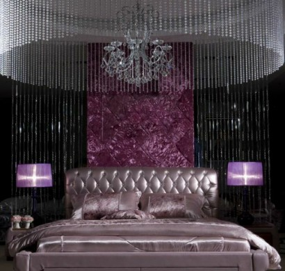 luxus schlafzimmer lila. Black Bedroom Furniture Sets. Home Design Ideas