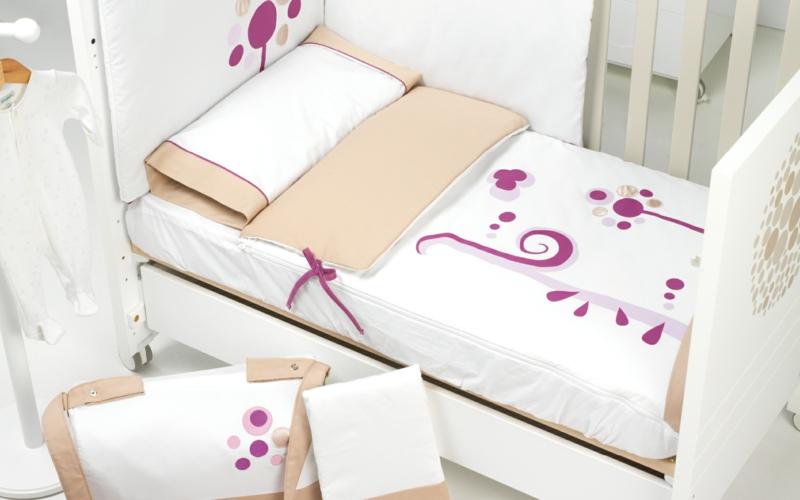 Micuna Designer Kinder Möbel Kollektion Lunar Bett Rosa Weiß