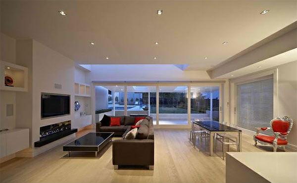 Wohnwand ideen  TV Wohnwand im modernen Wohnzimmer - 15 inspirierende Beispiele