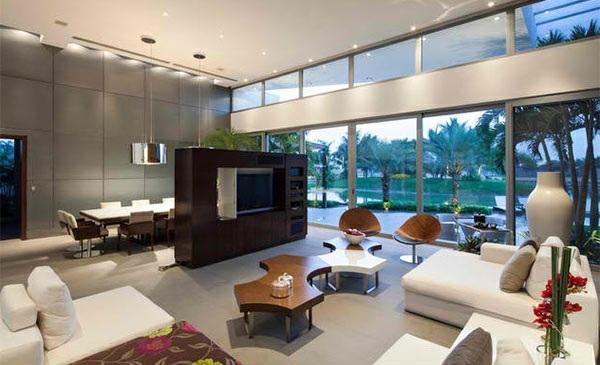 Tv wohnwand im modernen wohnzimmer 15 inspirierende - Wohnwand gestalten ...