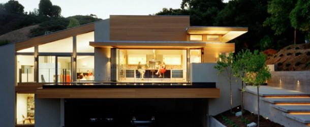 moderne Haus Architektur   Seitenblick
