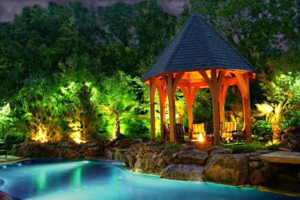 gärten bilder beispiele gartengestaltung beleuchtung