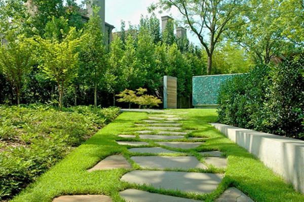 moderne gärten bilder beispiele gartengestaltung  fußweg