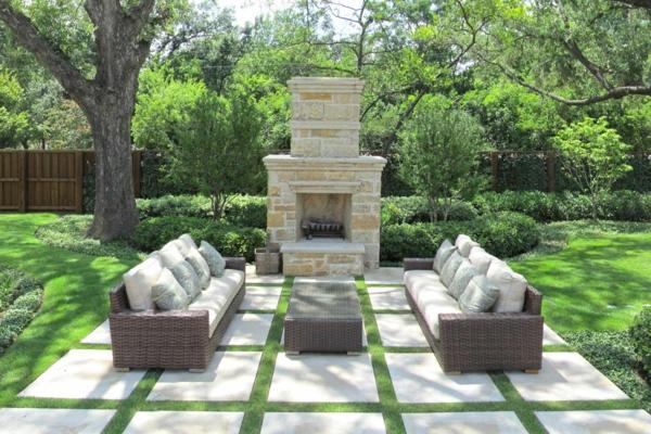 Gärten Bilder Beispiele Gartengestaltung Gartenmöbel Set Moderne ...