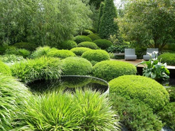 moderne gärten bilder beispiele gartengestaltung  gras