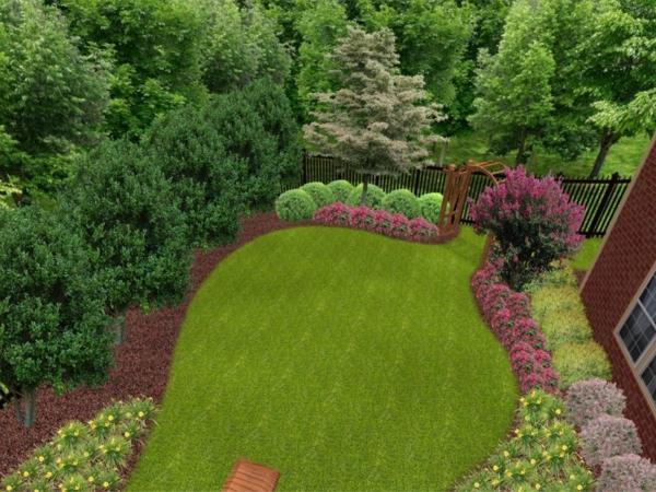 gärten bilder beispiele gartengestaltung  grasfläche