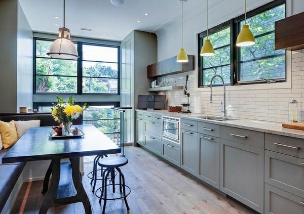 15 moderne graue k chenschr nke in warmen nuancen. Black Bedroom Furniture Sets. Home Design Ideas