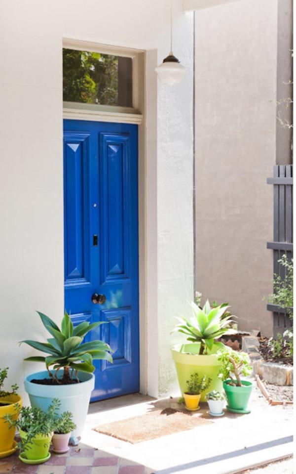 Moderne Haustüren in Farbe - 15 coole Farbgestaltung Ideen