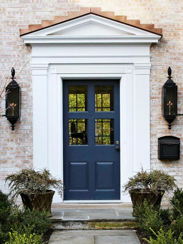 Haustür landhaus blau  Moderne Haustüren in Farbe - 15 coole Farbgestaltung Ideen
