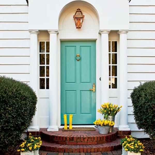 Haustür landhaus grün  Moderne Haustüren in Farbe - 15 coole Farbgestaltung Ideen