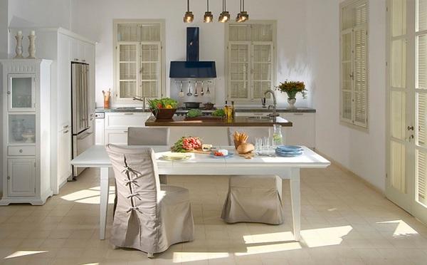 moderne küche einrichten minimalistisch rustikal