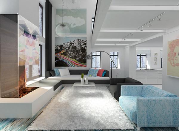 moderne minimalistische wohnzimmergestaltung ideen farben frisch