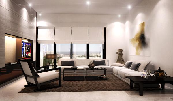 moderne wohnzimmergestaltung ideen farben licht