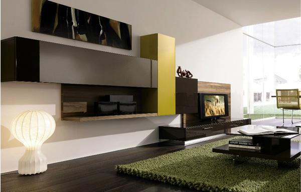 moderne simple wohnzimmergestaltung ideen schränke