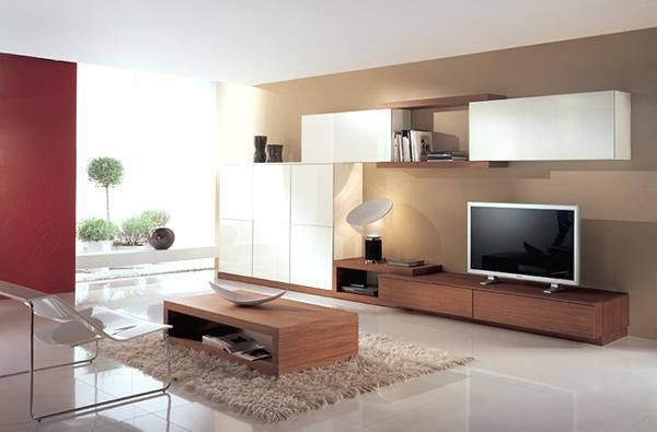 coole minimalistische wohnzimmergestaltung ideen warm