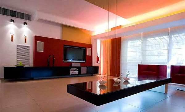 Tv wohnwand im modernen wohnzimmer 15 inspirierende beispiele - Trockenbau wohnwand ...